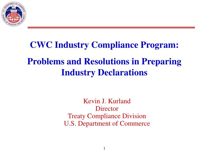 CWC Industry Compliance Program: