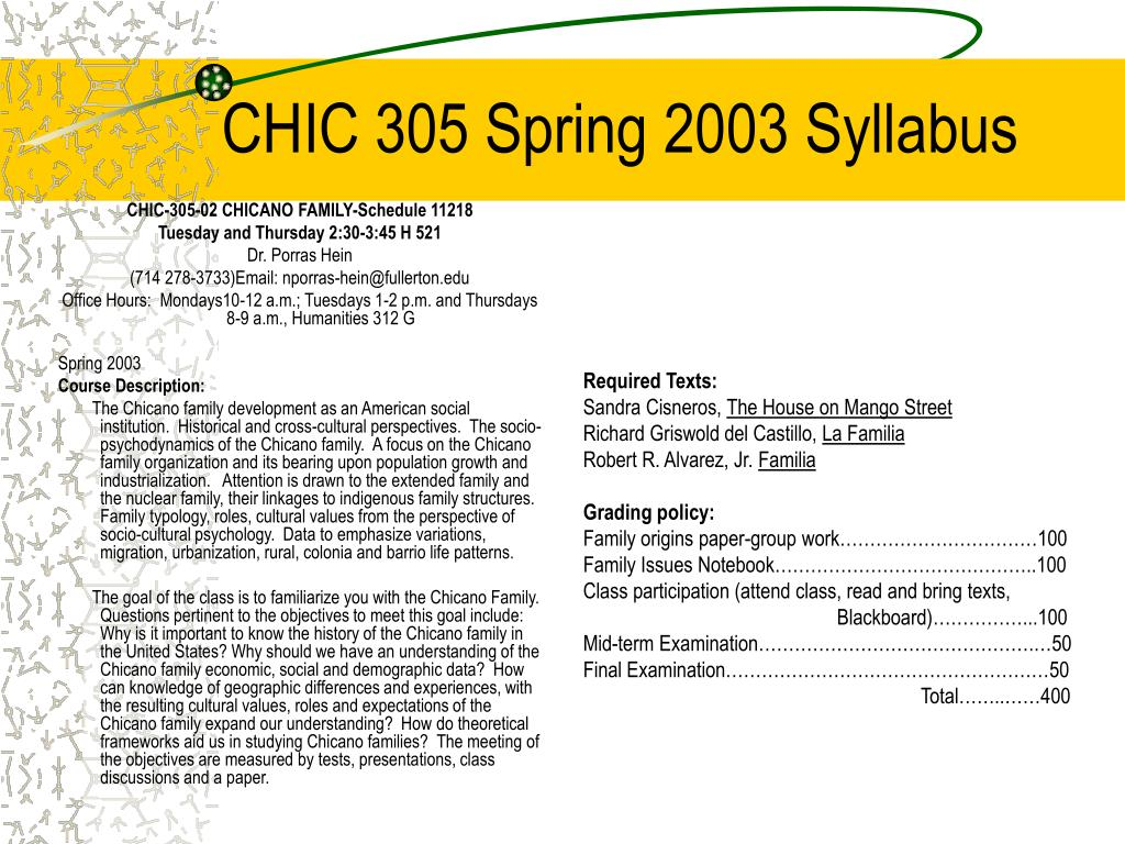 CHIC-305-02 CHICANO FAMILY-Schedule 11218
