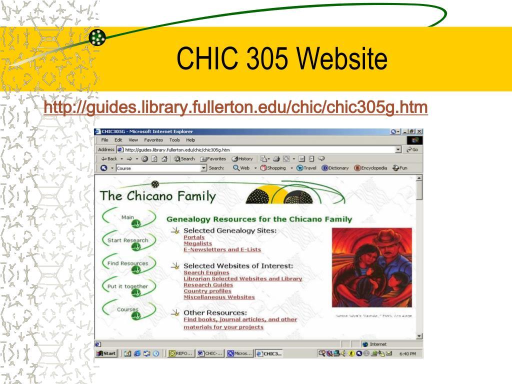 CHIC 305 Website