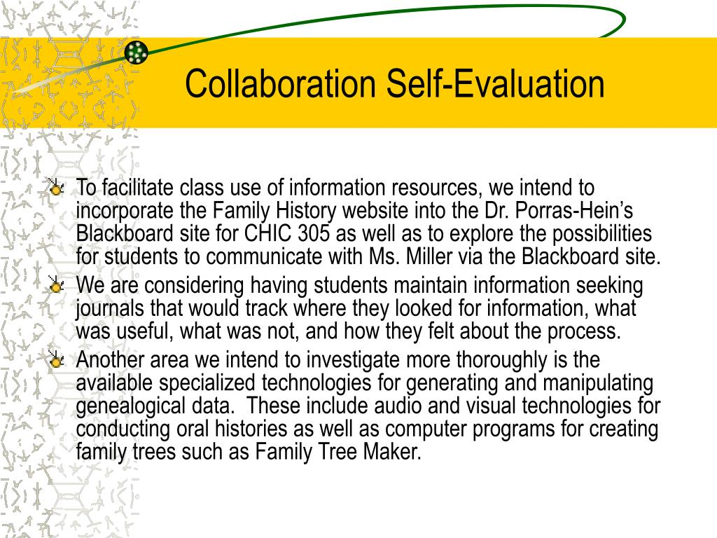 Collaboration Self-Evaluation