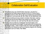 collaboration self evaluation
