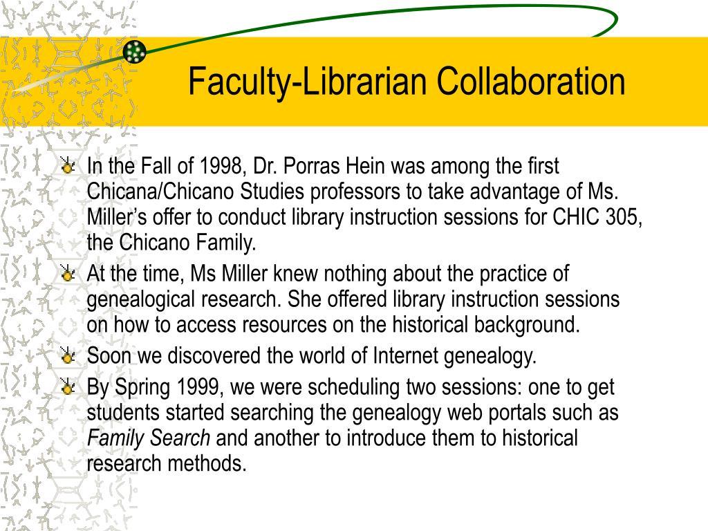 Faculty-Librarian Collaboration