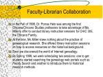 faculty librarian collaboration