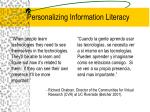 personalizing information literacy