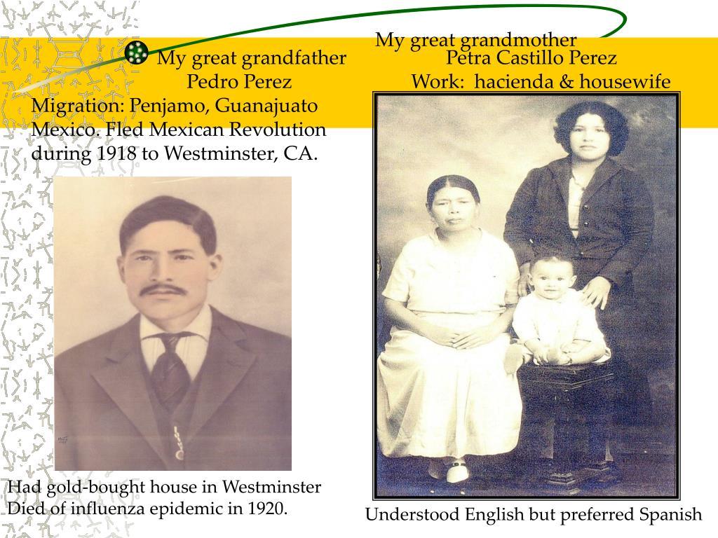 My great grandmother