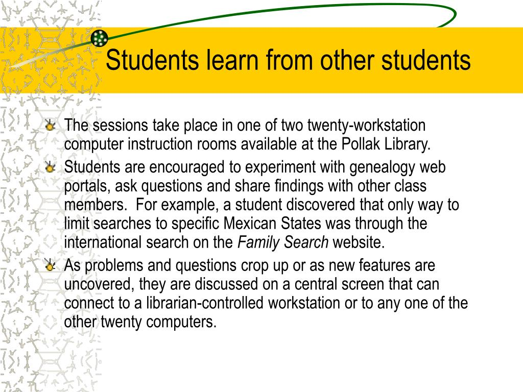 Students learn from other students
