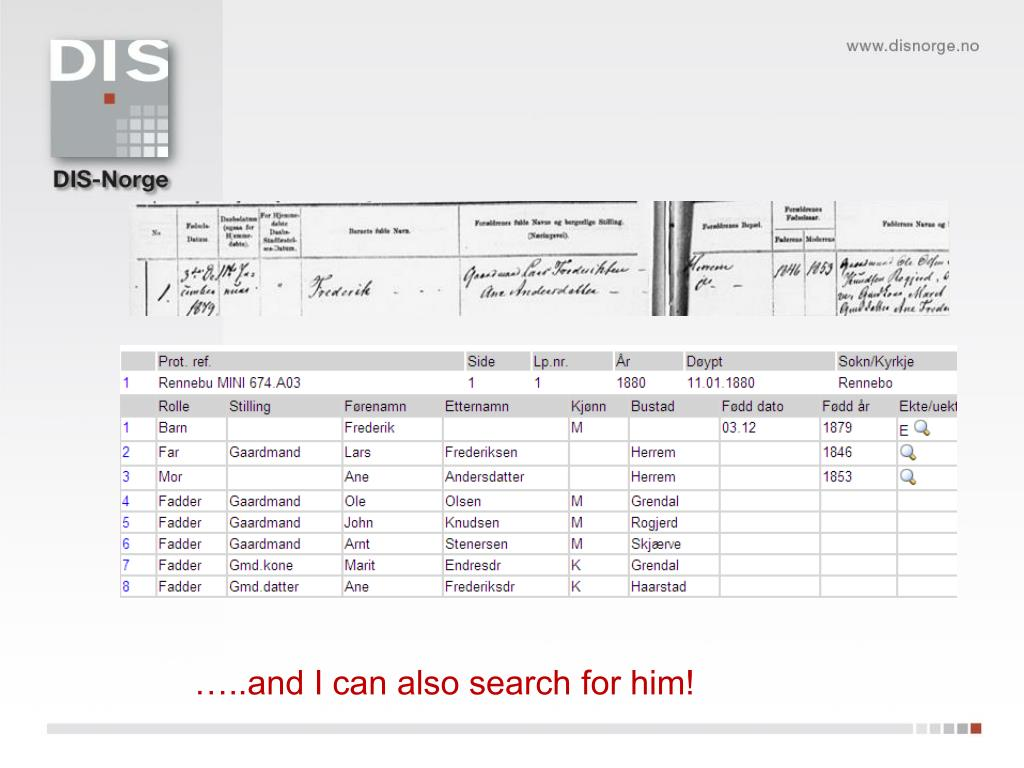 …..and I can also search for him!
