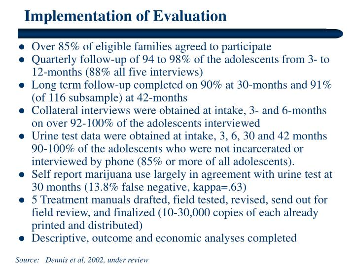 Implementation of Evaluation