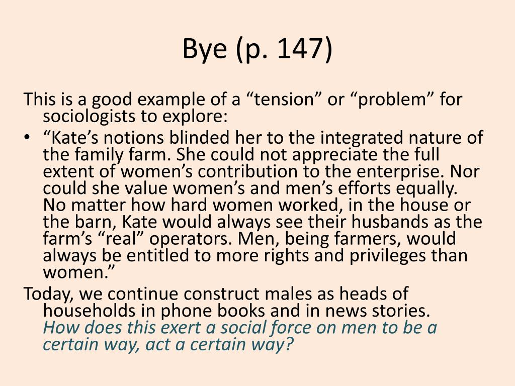 Bye (p. 147)
