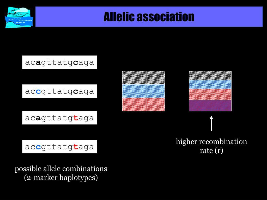 Allelic association