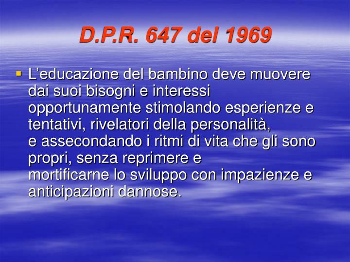 D.P.R. 647 del 1969