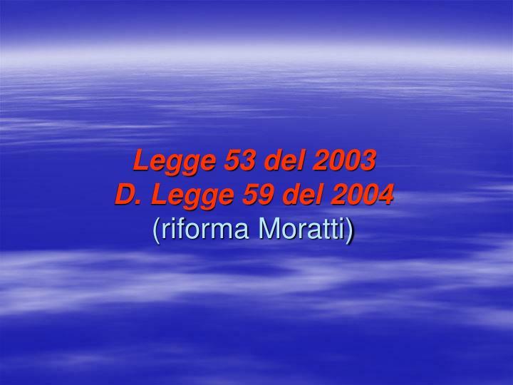 Legge 53 del 2003