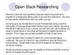 open stack researching