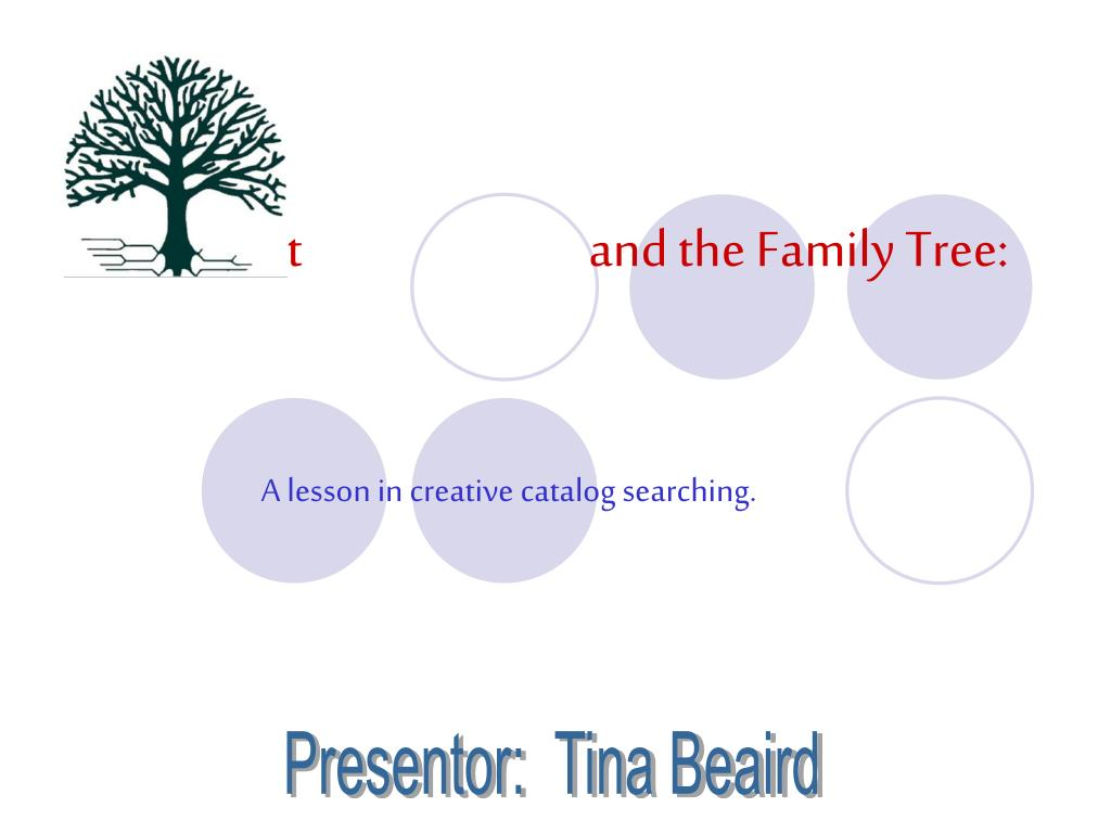 worldcat and the family tree