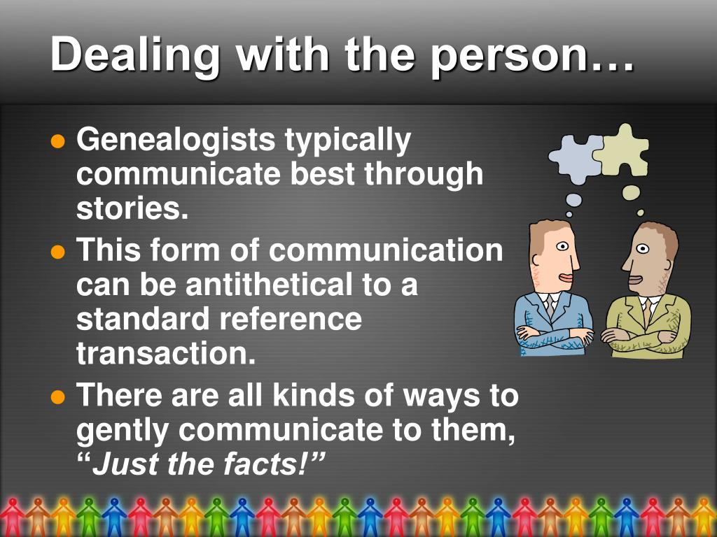 Dealing with the person…