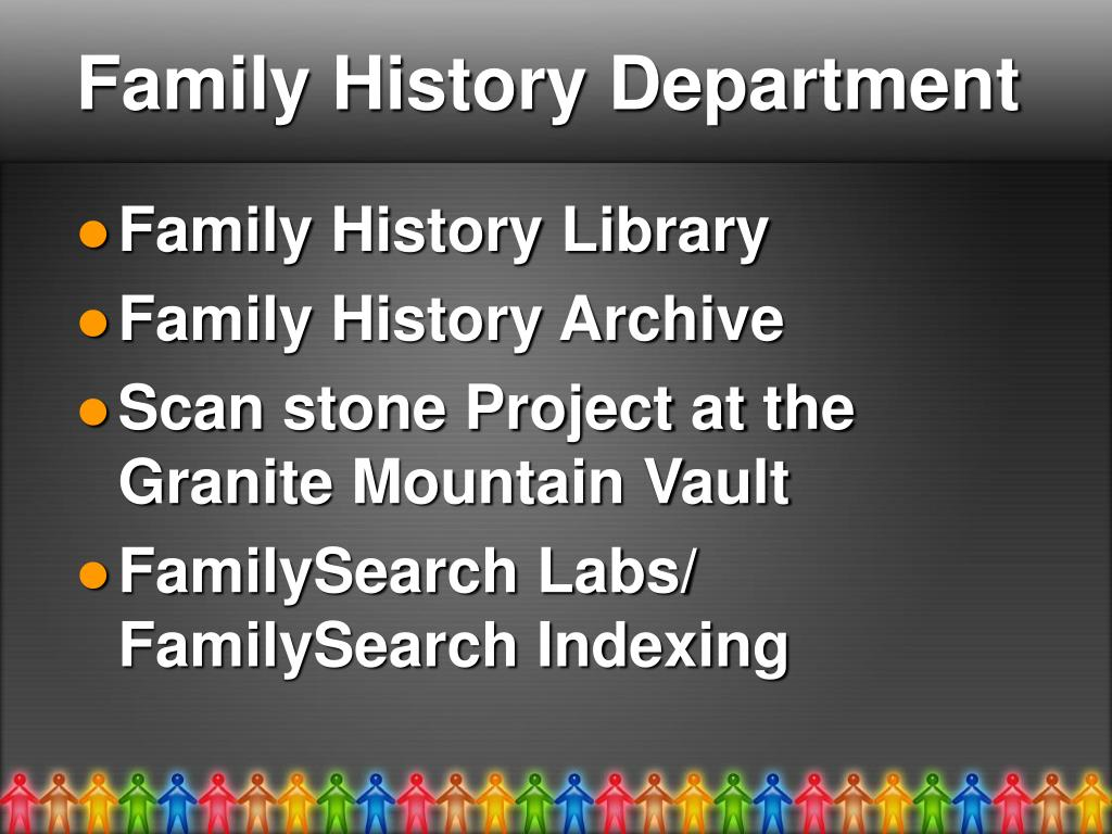 Family History Department