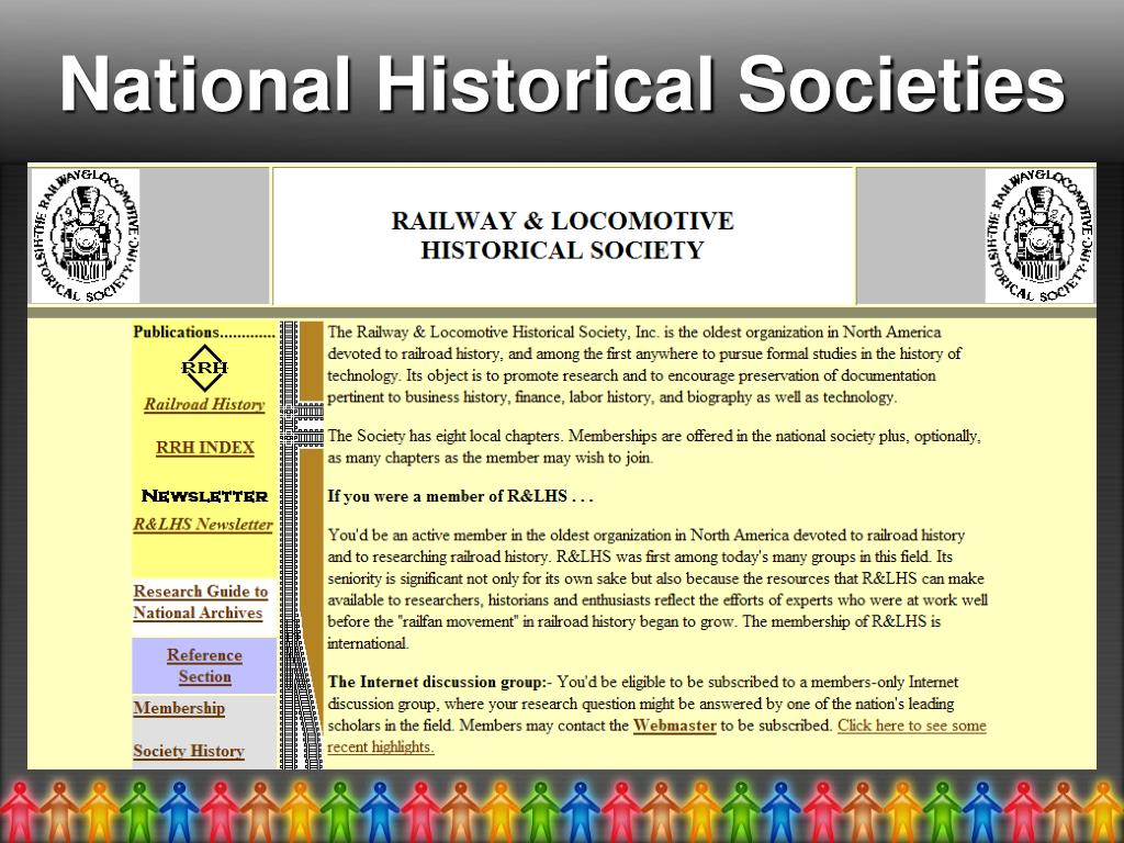 National Historical Societies