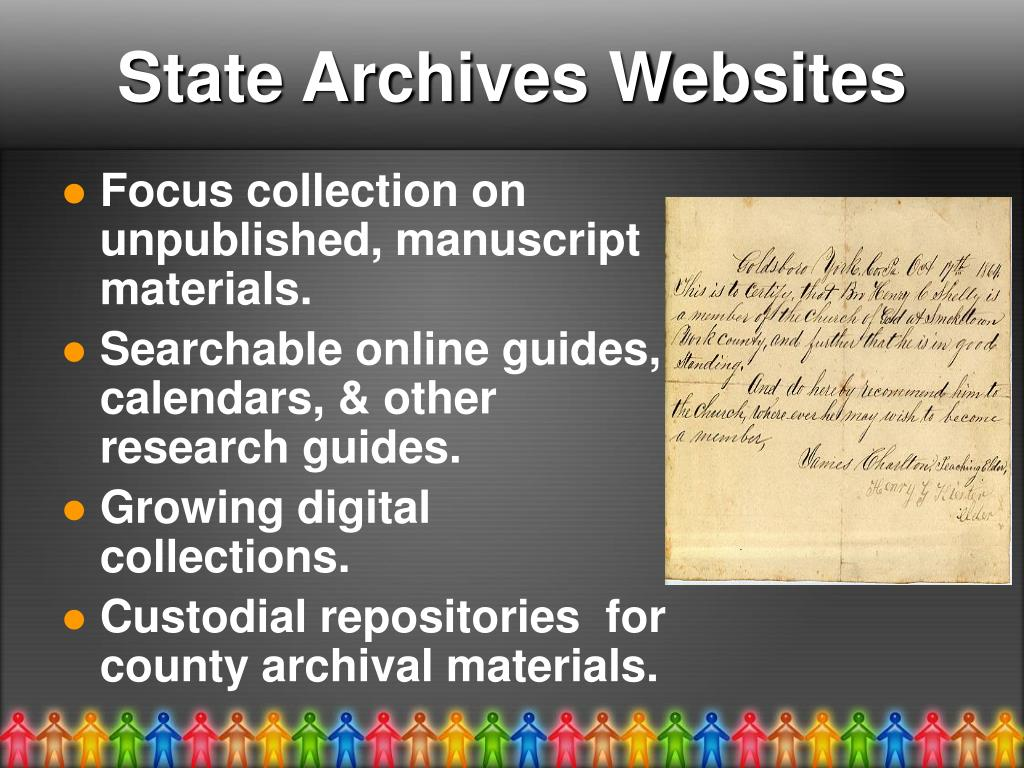 State Archives Websites