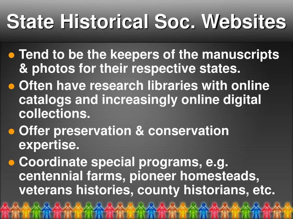 State Historical Soc. Websites