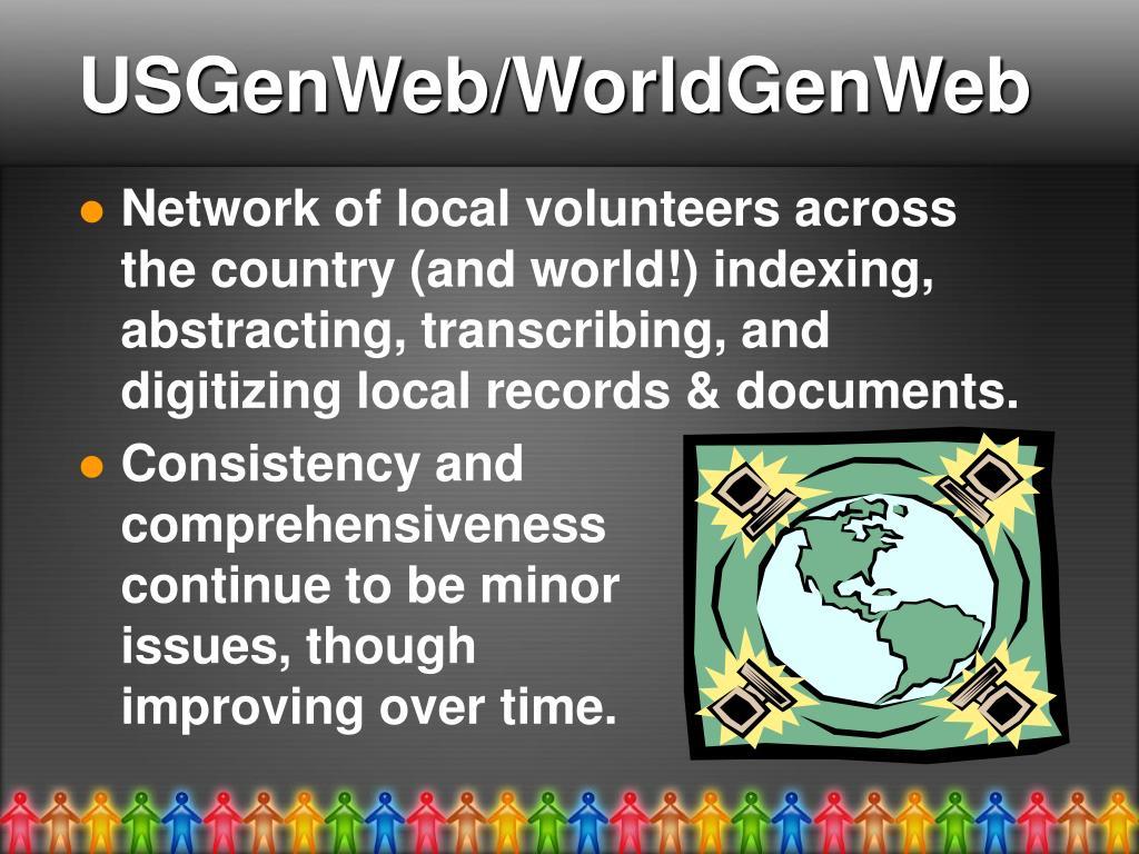 USGenWeb/WorldGenWeb