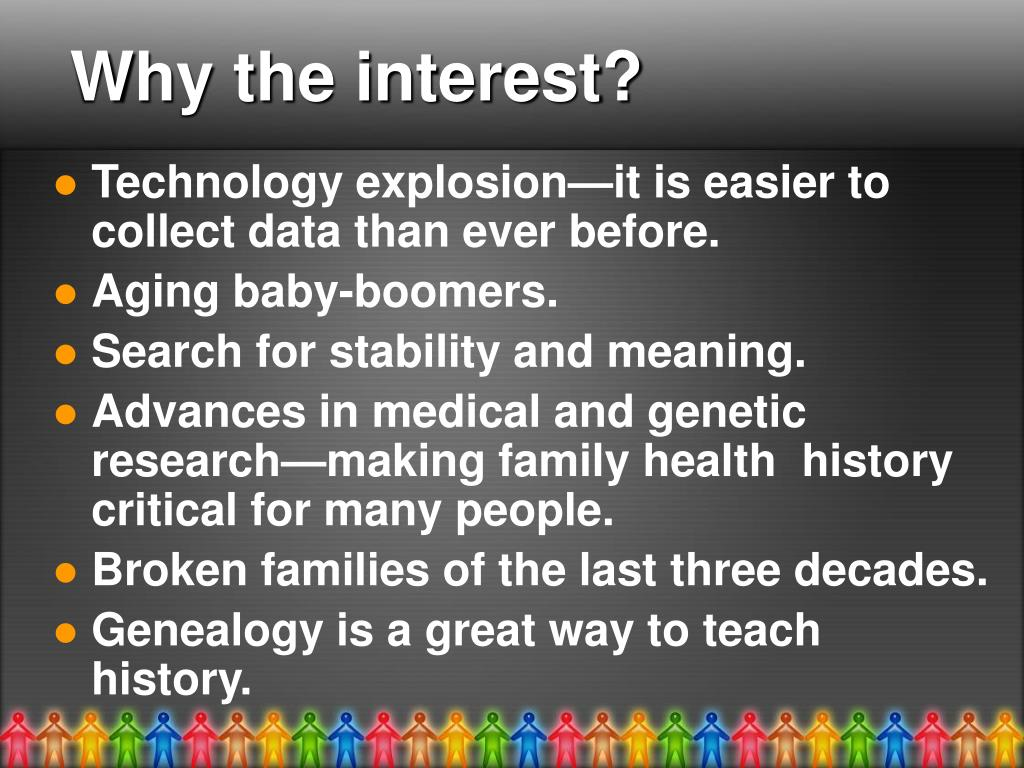 Why the interest?