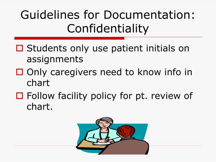 Guidelines for Documentation: Confidentiality