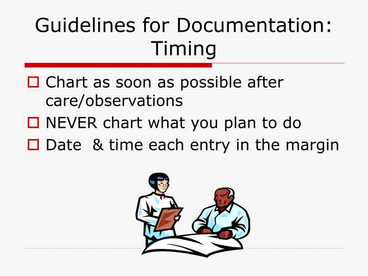 Guidelines for Documentation: