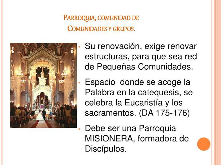 Parroquia, comunidad de