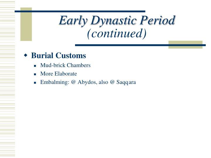 Early Dynastic Period