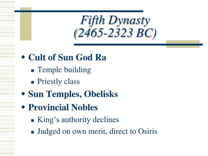 Fifth Dynasty