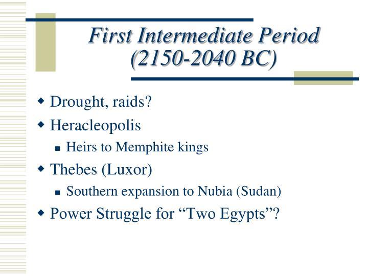 First Intermediate Period