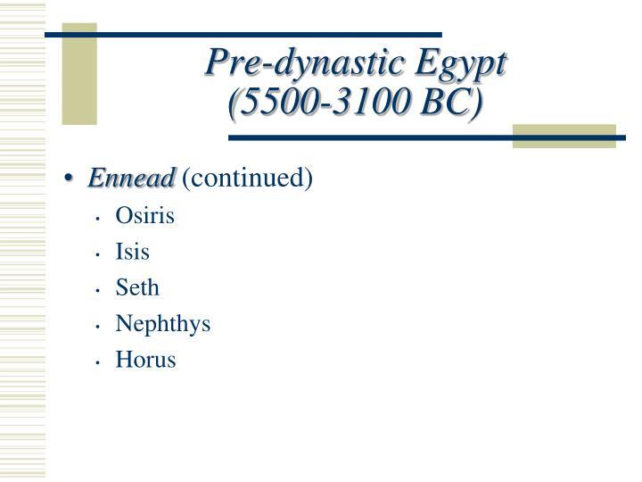 Pre-dynastic Egypt