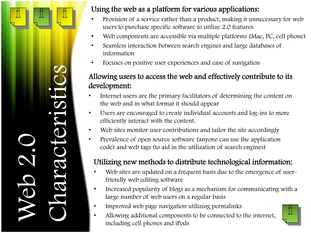 Using the web as a platform for various applications: