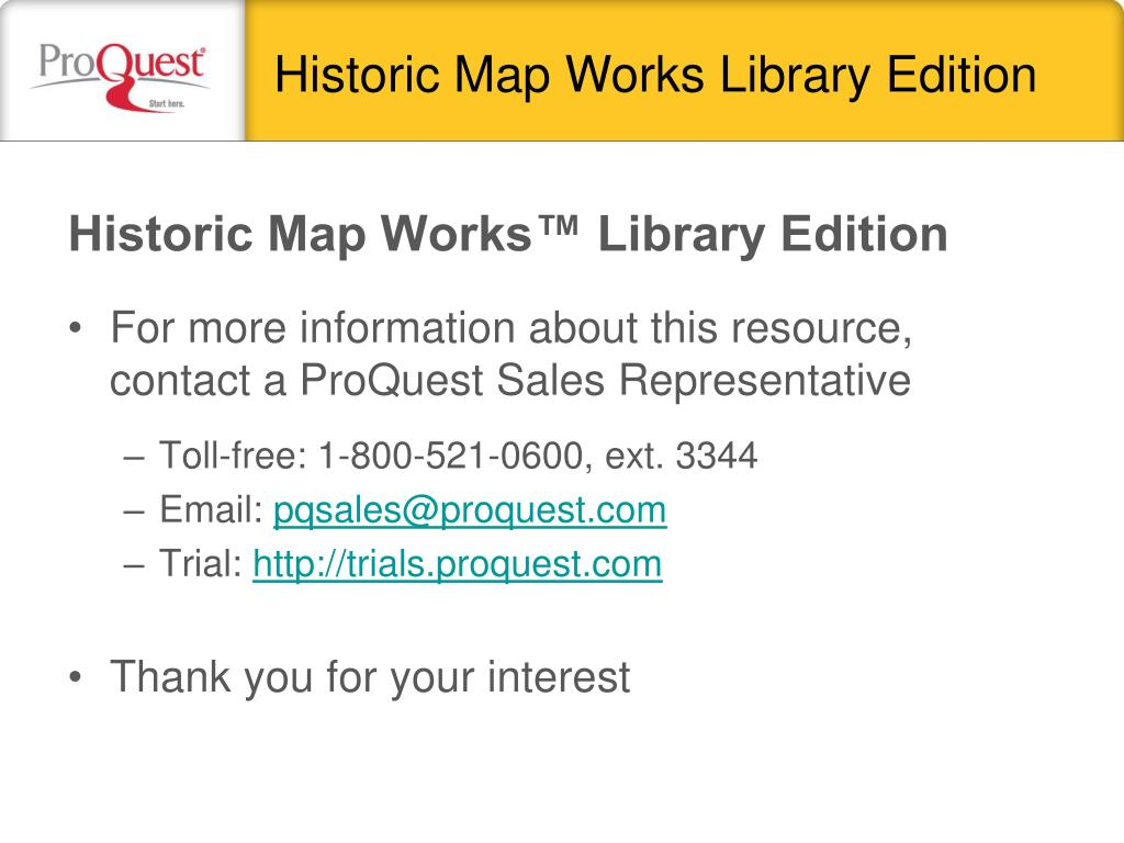 Historic Map Works Library Edition