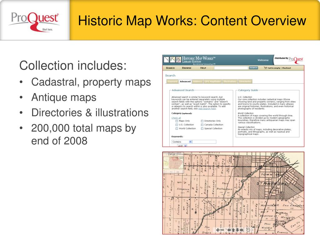 Historic Map Works: Content Overview