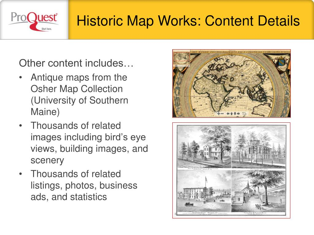Historic Map Works: Content Details