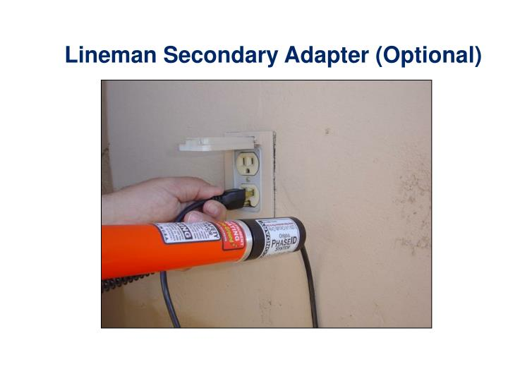 Lineman Secondary Adapter (Optional)