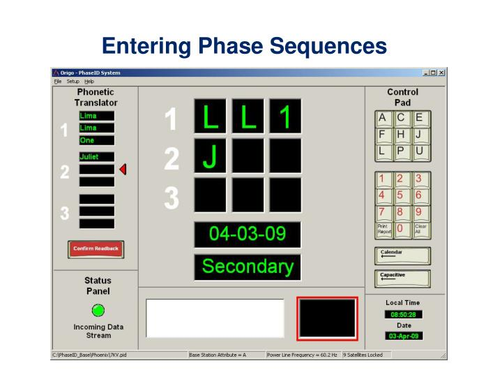 Entering Phase Sequences