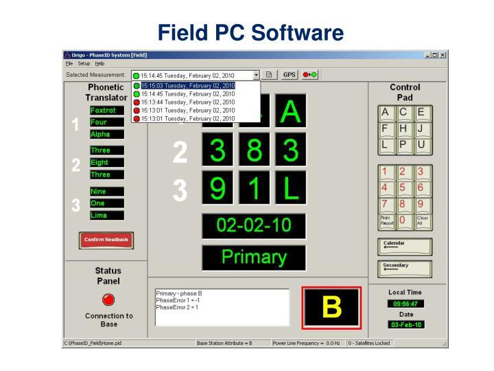 Field PC Software
