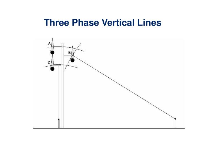 Three Phase Vertical Lines