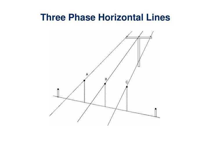 Three Phase Horizontal Lines