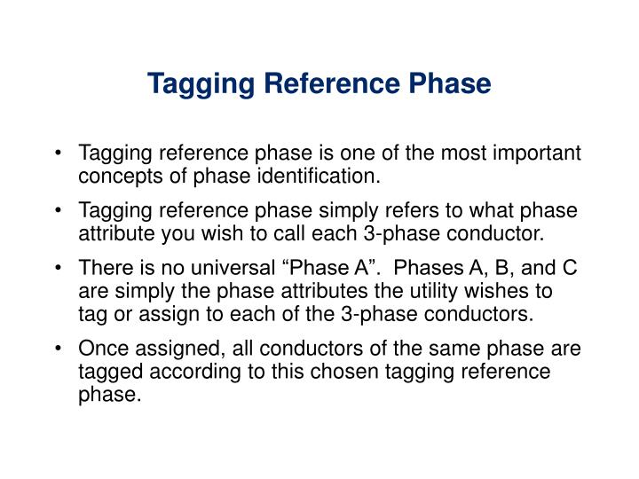Tagging Reference Phase