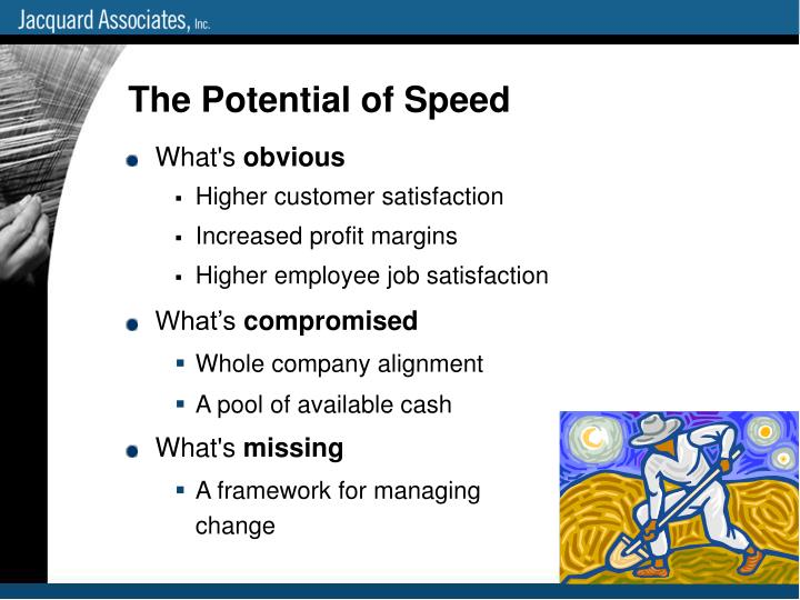 The Potential of Speed