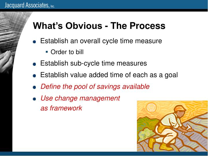 What's Obvious - The Process