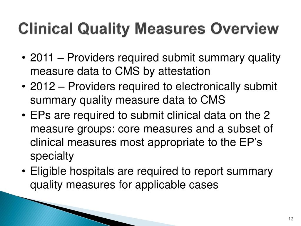 Clinical Quality Measures Overview