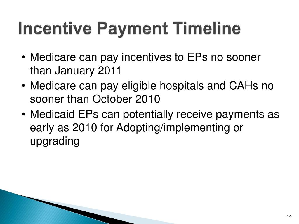 Incentive Payment Timeline
