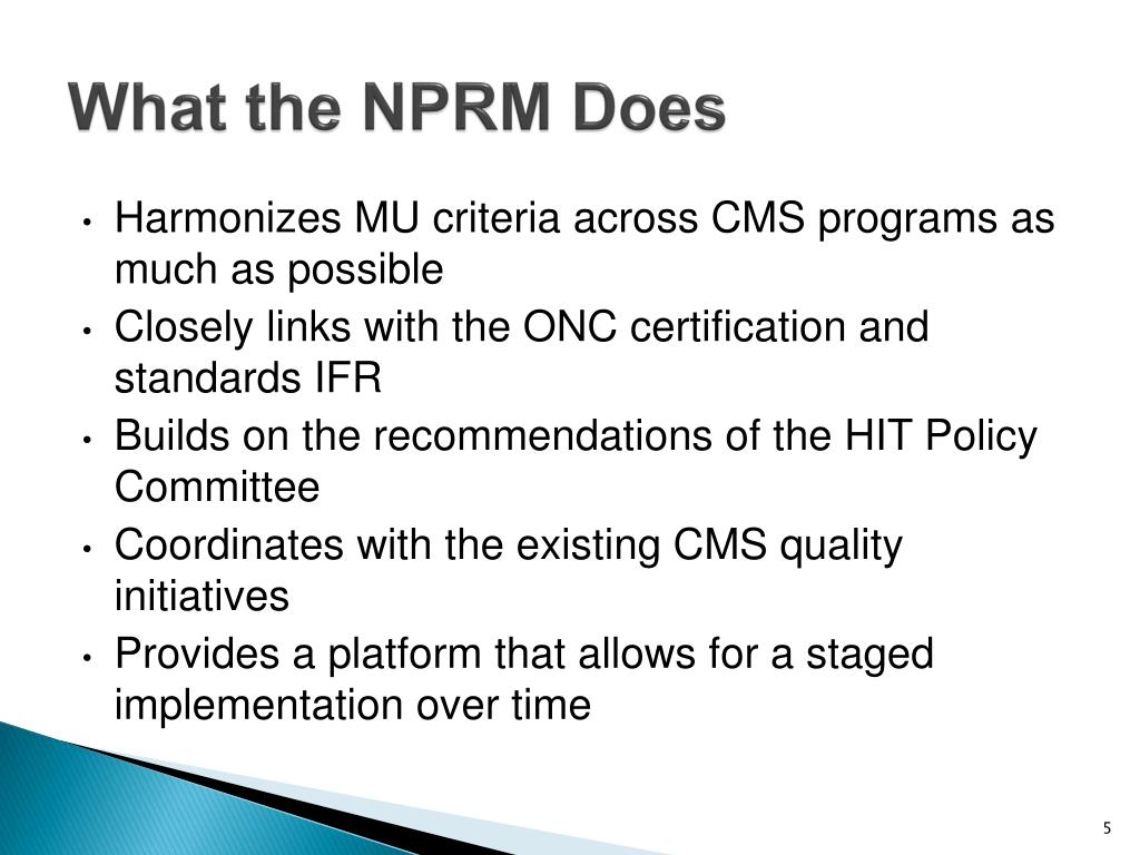 What the NPRM Does