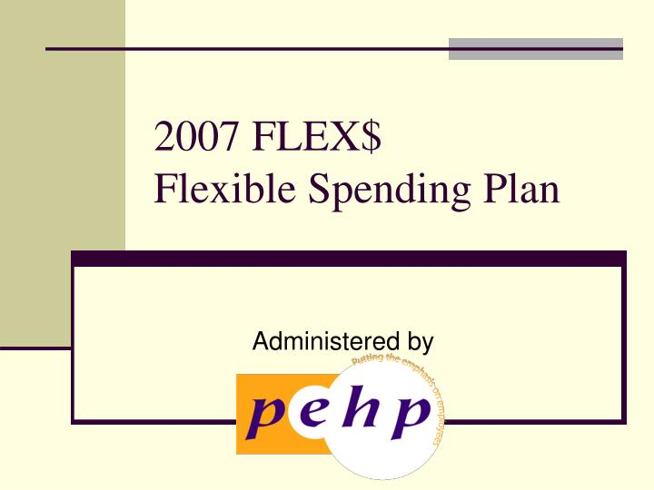 2007 flex flexible spending plan