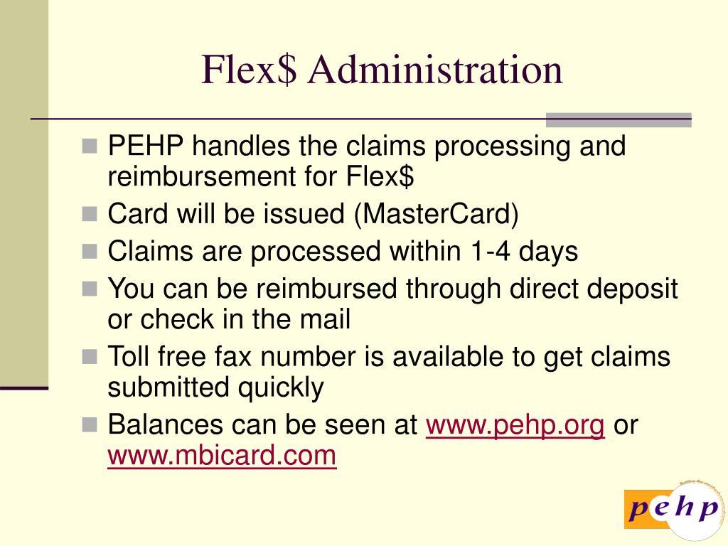 Flex$ Administration