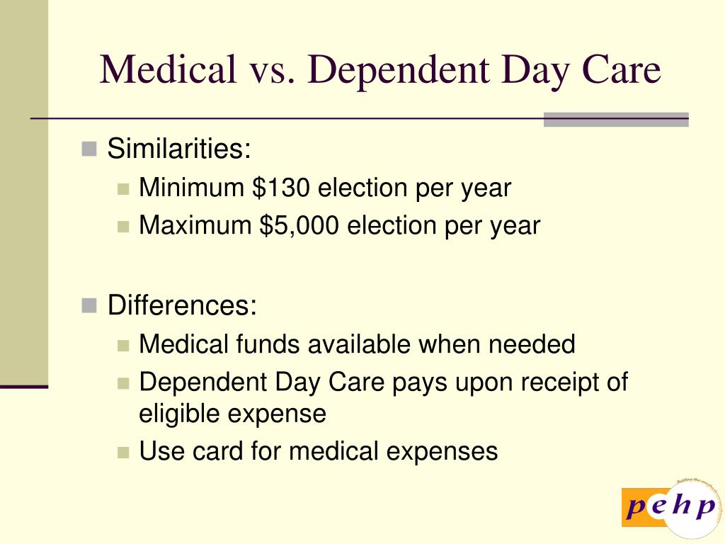 Medical vs. Dependent Day Care